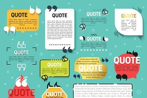 Quote. Quote design elements