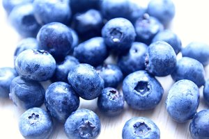 Macro of Blueberries