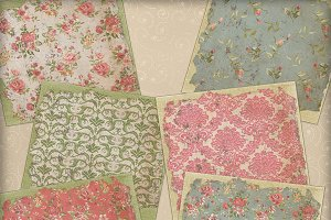 Shabby Chic Stacked Papers 12x12