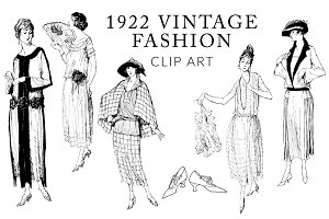Vintage Fashion Clipart