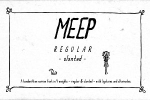 Meep Regular Slanted