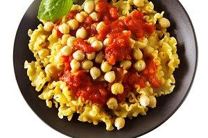 Vegetarian Pasta with Tomato sauce