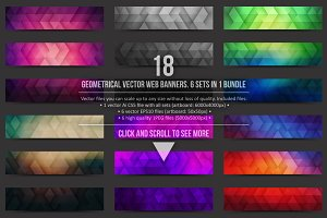 Geometrical Vector Web Banners