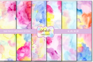 Watercolor Texture Colorful