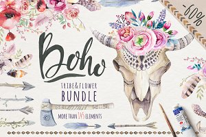 Tribe & Flower boho bundle
