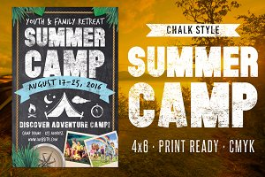 Chalk Summer Camp Flyer
