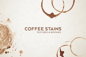 Coffee Stains Textures & Brushes