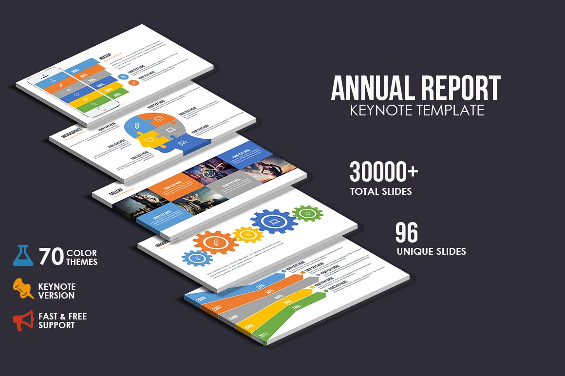 Annual Report Keynote Presentation Presentation Templates