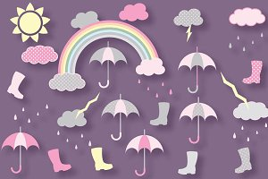 Rainy weather clipart