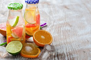 Detox, citrus fruit, drink