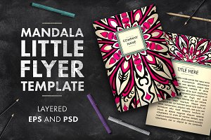 Mandala flyer template 02