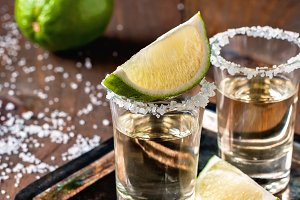 Mexican tequila gold