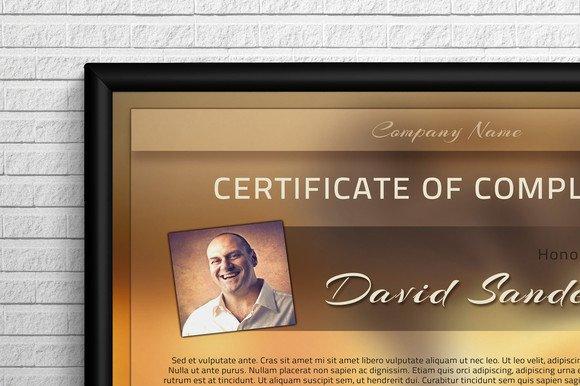 Modern Certificate Template Stationery Templates on Creative Market – Corporate Certificate Template