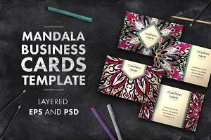 Mandala business card template 02