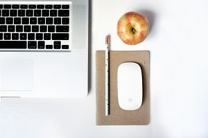Simple Modern Desk Scene Flat Lay 4