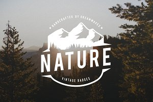 Vintage Nature Logo Badges
