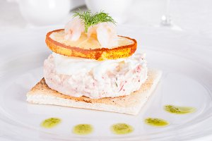Terrine of crab meat