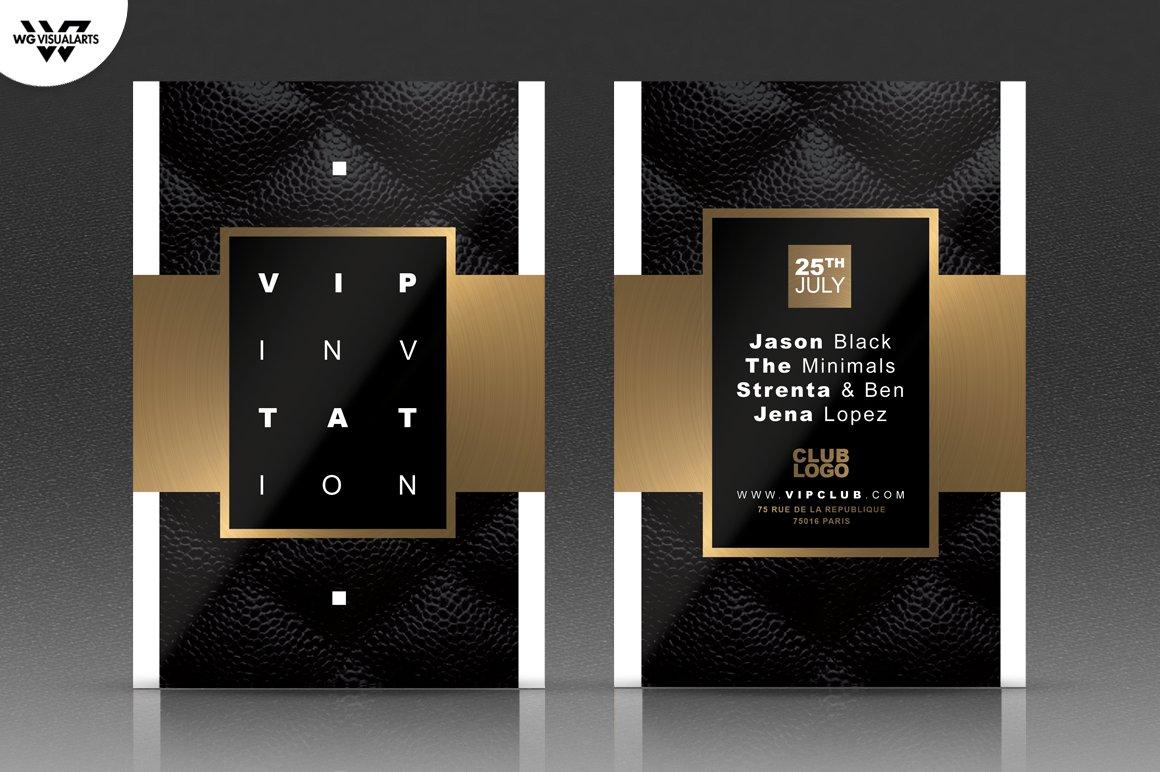 vip gold classy flyer template flyer templates creative market