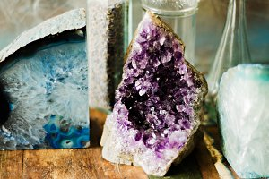 Geode Amethyst Crystals