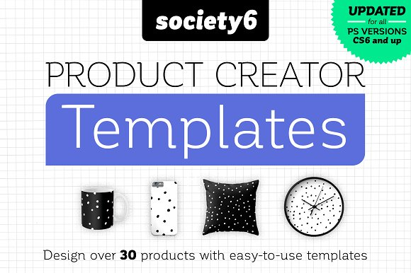 Society6 Product Creator Templates