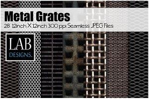28 Metal Grate Seamless Textures