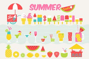 Summer treat illustrations