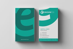 Clean & Flat Business Card Template