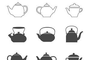 Tea pots set