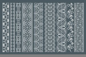 Vertical seamless lace borders