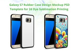 Galaxy S7 2d Rubber Case Mockup
