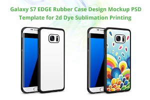Galaxy S7 Edge 2d Rubber Case Mockup