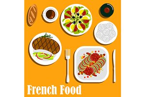 French cuisine dishes