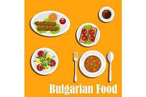 Bulgarian cuisine nutritious dinner