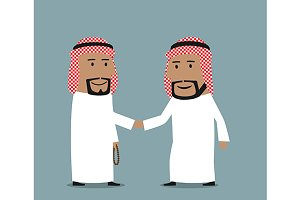 Friendly arab businessmen