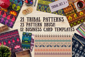 3.Tribal patterns, brushes and cards