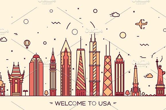 Skyline of United States