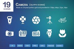 19 Camera Glyph Icons