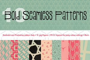 10 Bold Seamless Patterns