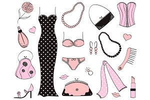 Ladies Fashion Clip Art