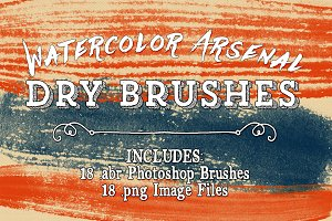 Watercolor Arsenal Dry Brushes