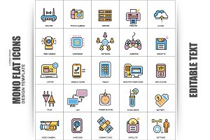 Flat Hardware Vector Icons