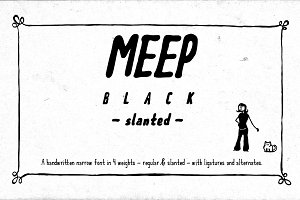Meep Black Slanted