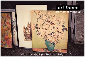 add + artframe 4 art market mockup