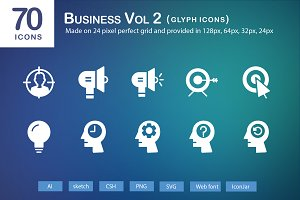 70 Business Vol 2 Glyph Icons