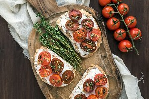 Sandwiches bruschetta