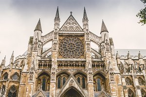 North Entrance of Westminster Abbey in London