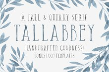 Tall Abbey Serif + 5 Logo Templates