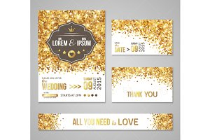 Wedding Cards Gold