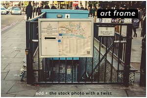 add + artframe 5 city street mockup