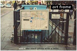 add + artframe 5 city street mockup